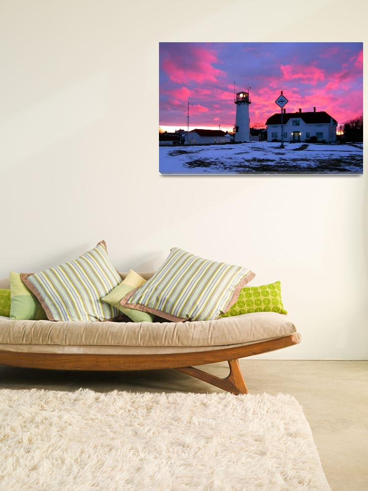 """""""Chatham Lighthouse in Winter""""  (2012) by ChrisSeufert"""
