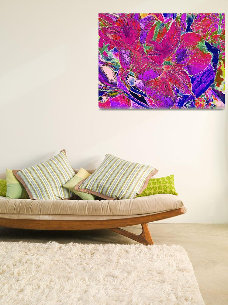 """""""Lily Duo in Red and Purple""""  by LyndaLehmann"""