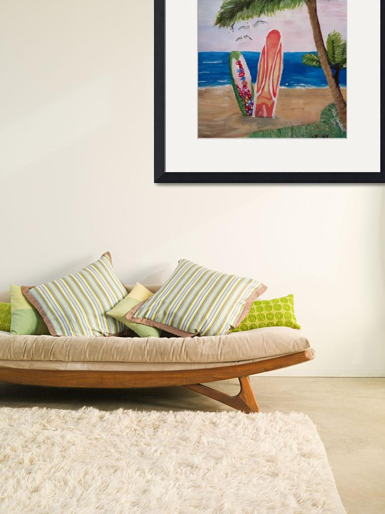 """""""Caribbean Strand with Surf Boards&quot  (2014) by arthop77"""