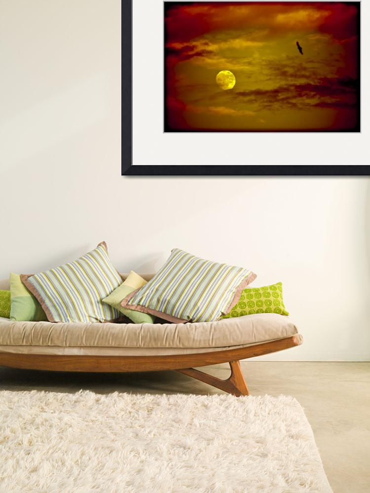 """""""Full Moon, Red Sky&quot  (2011) by mgarrido"""