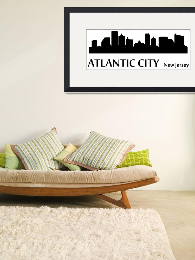 """Atlantic City Cityscape Skyline&quot  (2015) by KWGart"
