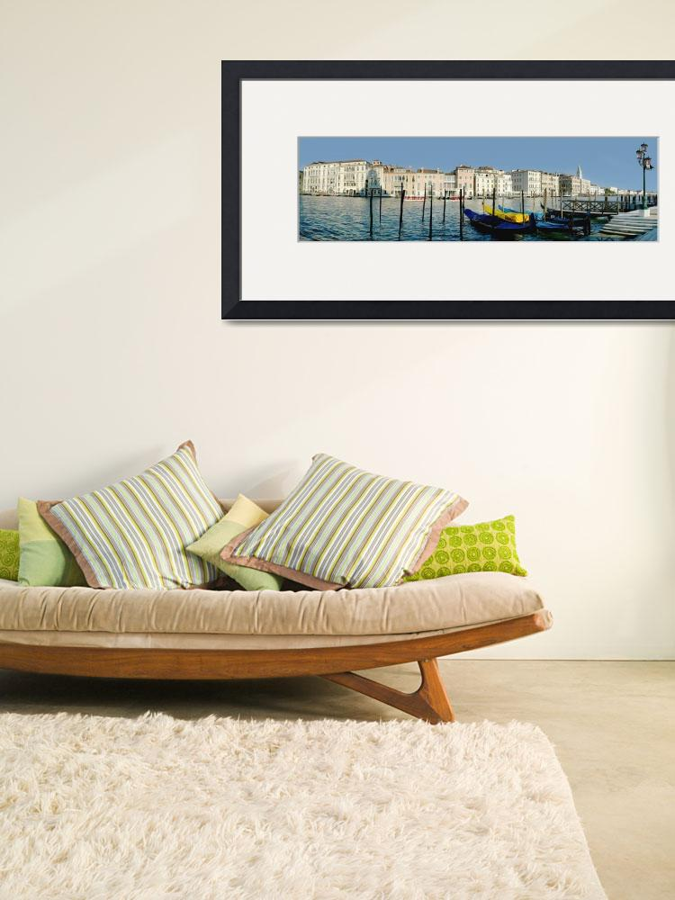 """""""Panoramic Of Colourful Venetian Waterfront&quot  by DesignPics"""