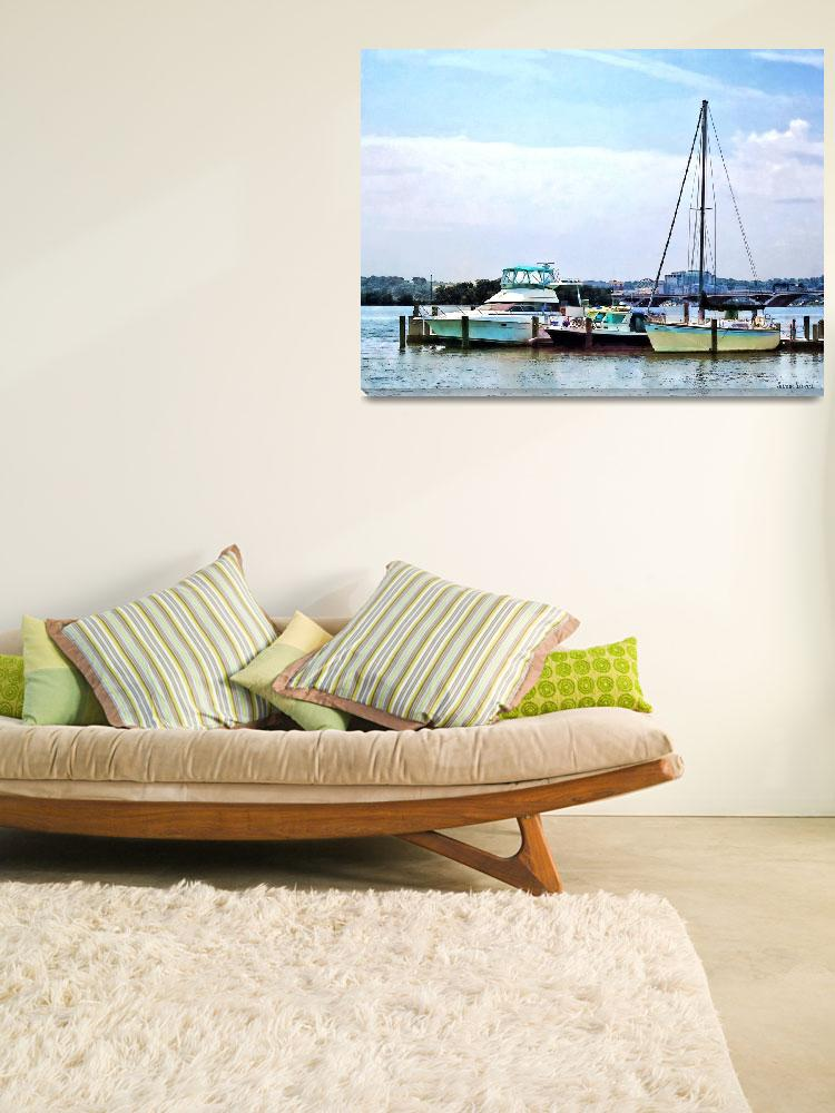 """Boats on the Potomac Near Founders Park""  by susansartgallery"