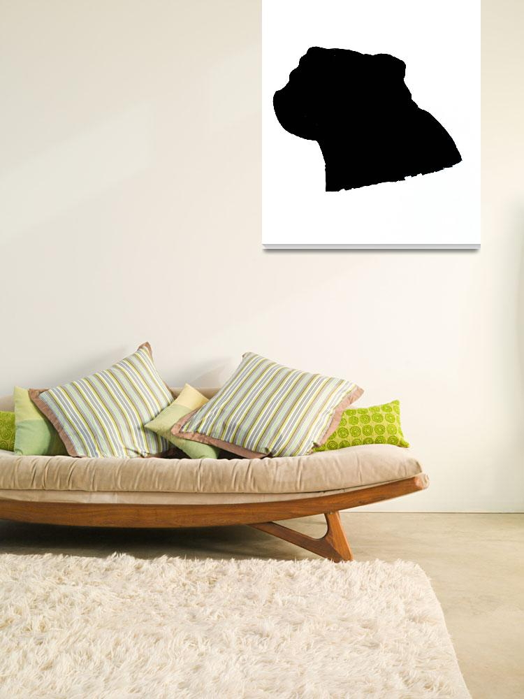 """""""Pug Silhouette""""  (2014) by tableturning"""
