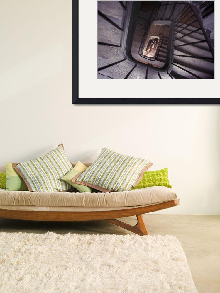 """""""old world spiral wood staircase&quot  by KenTannenbaum"""