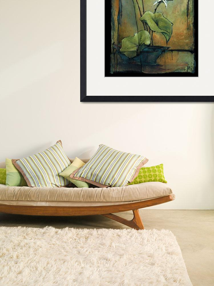 """""""Water Lily - Ikebana&quot  by OpieSnowPrints"""