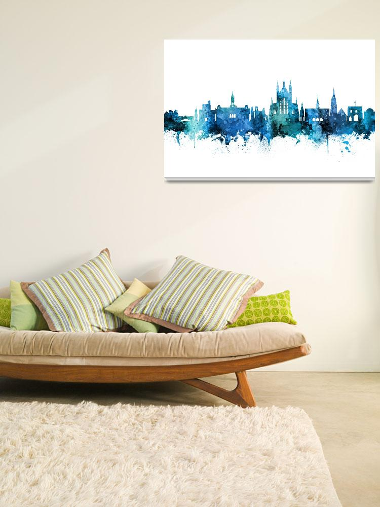 """Winchester England Skyline""  (2018) by ModernArtPrints"