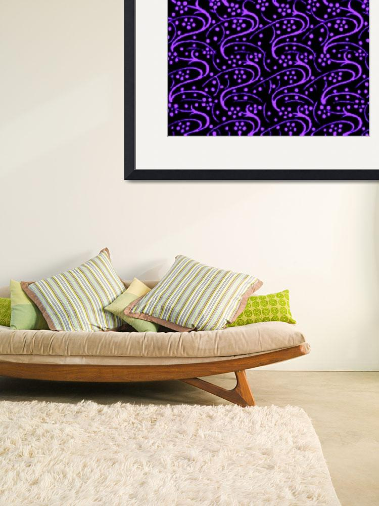 """Vintage Swirl Floral Purple Black""  (2013) by SaraValor"