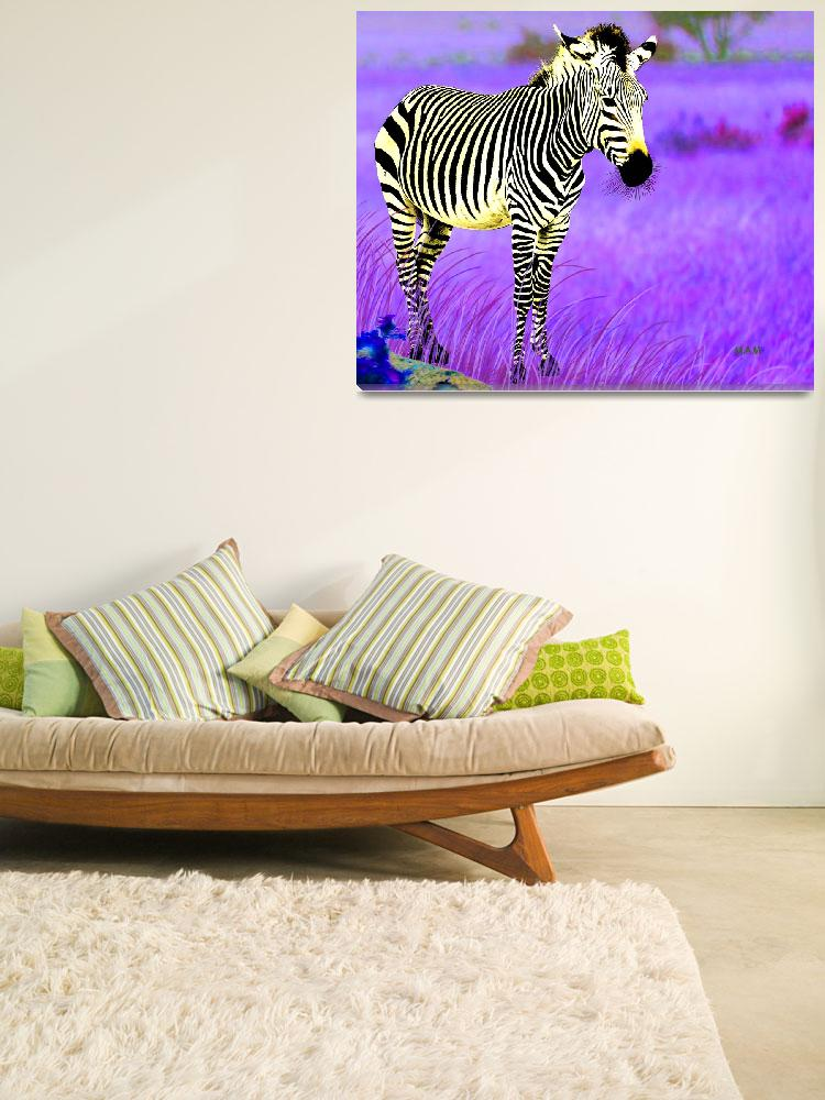 """Psychedelic Zebra""  (2019) by mjacedesigns"