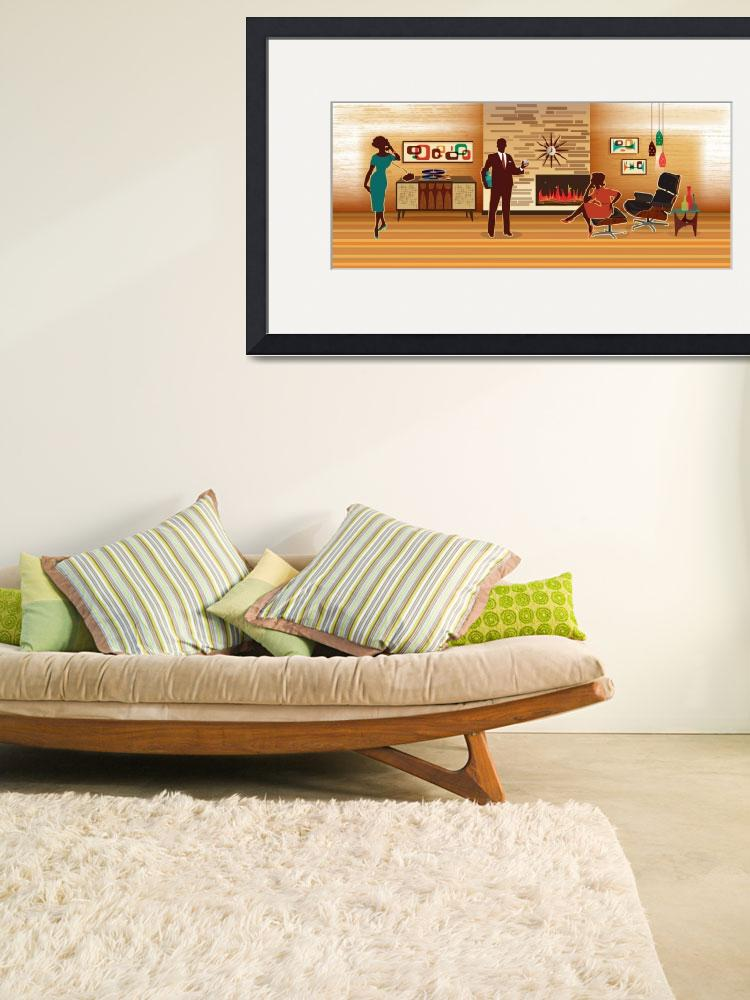 """Mid Century Modern Living Room Scene&quot  (2014) by DianeDempseyDesign"