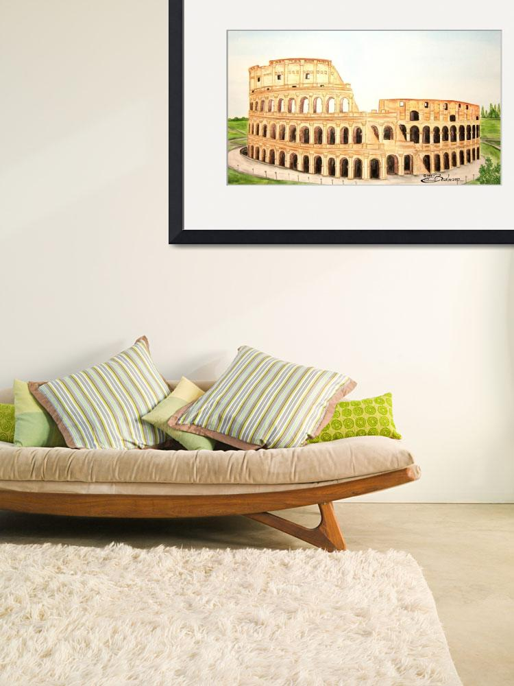 """Coliseum of Rome&quot  (2010) by BarbaraPelizzoli"