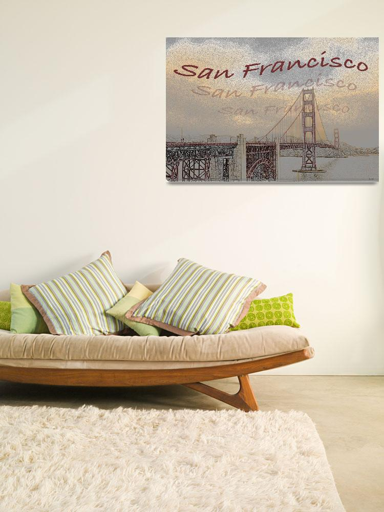 """""""poster Golden Gate&quot  (2011) by peopleplus"""