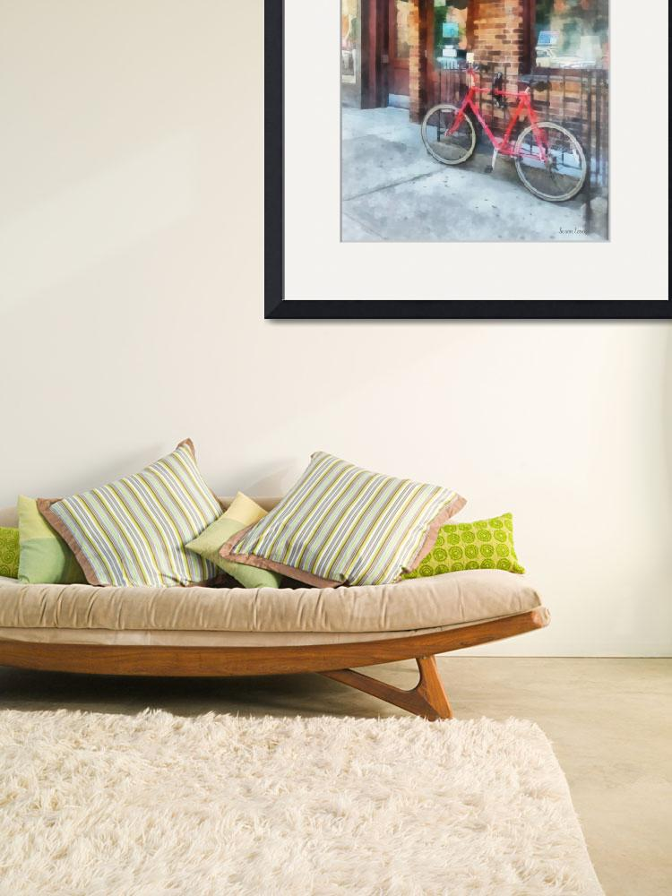 """""""Hoboken NJ - Bicycle by Post Office&quot  by susansartgallery"""