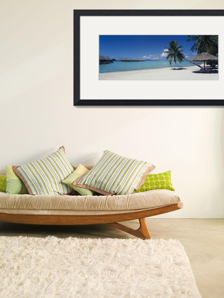 """""""Lounge chair under a beach umbrella&quot  by Panoramic_Images"""