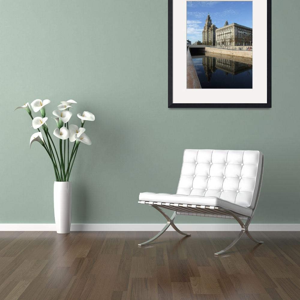 """""""Liverpool Pierhead Liver building Canal Waterfront&quot  by korhil65"""