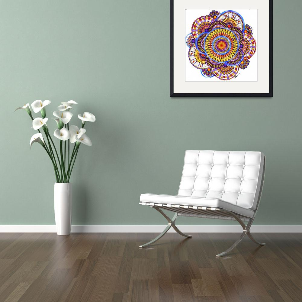 """""""Candy Corn Harvest Mandala&quot  (2011) by AlmaLee"""
