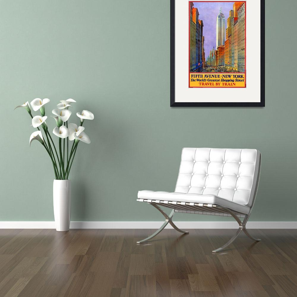 """Vintage poster - Fifth Avenue""  by mosfunky"