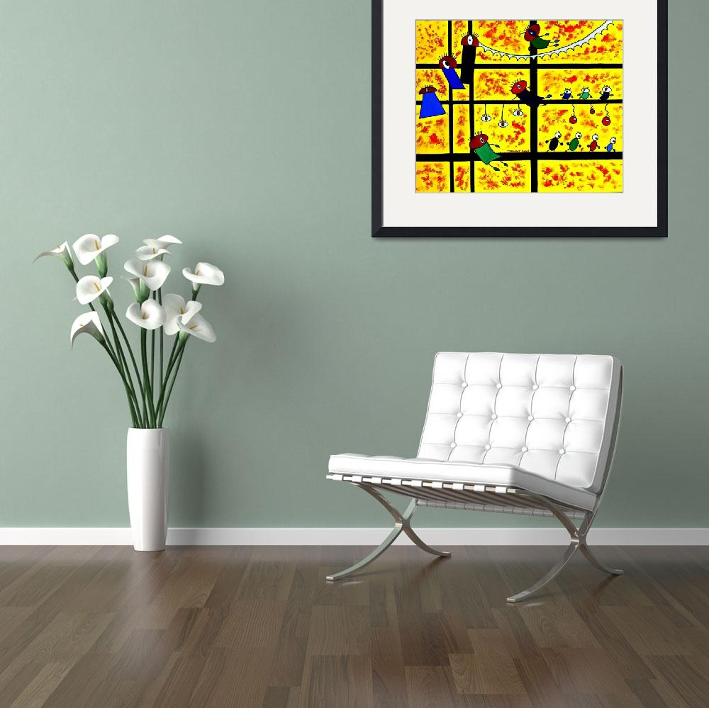 """""""The Bugs Climbing Up""""  (2013) by cneartgallery"""