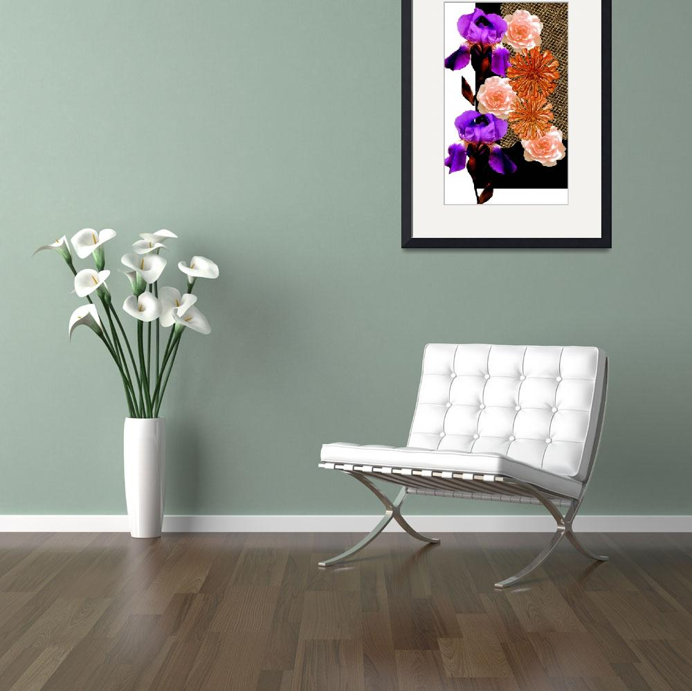 """""""Composition from violet flowers&quot  (2010) by milikArt"""