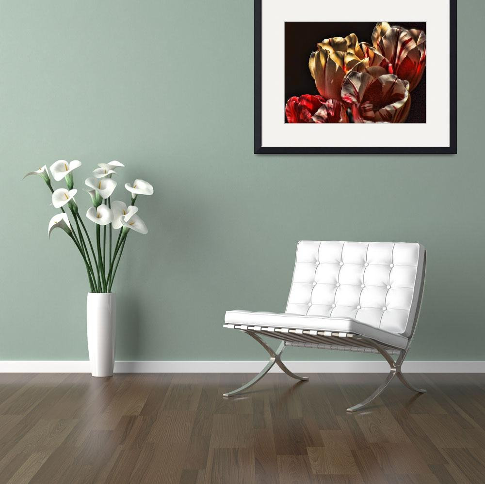 """""""Peppermint Tulips&quot  (2009) by klmaponte"""