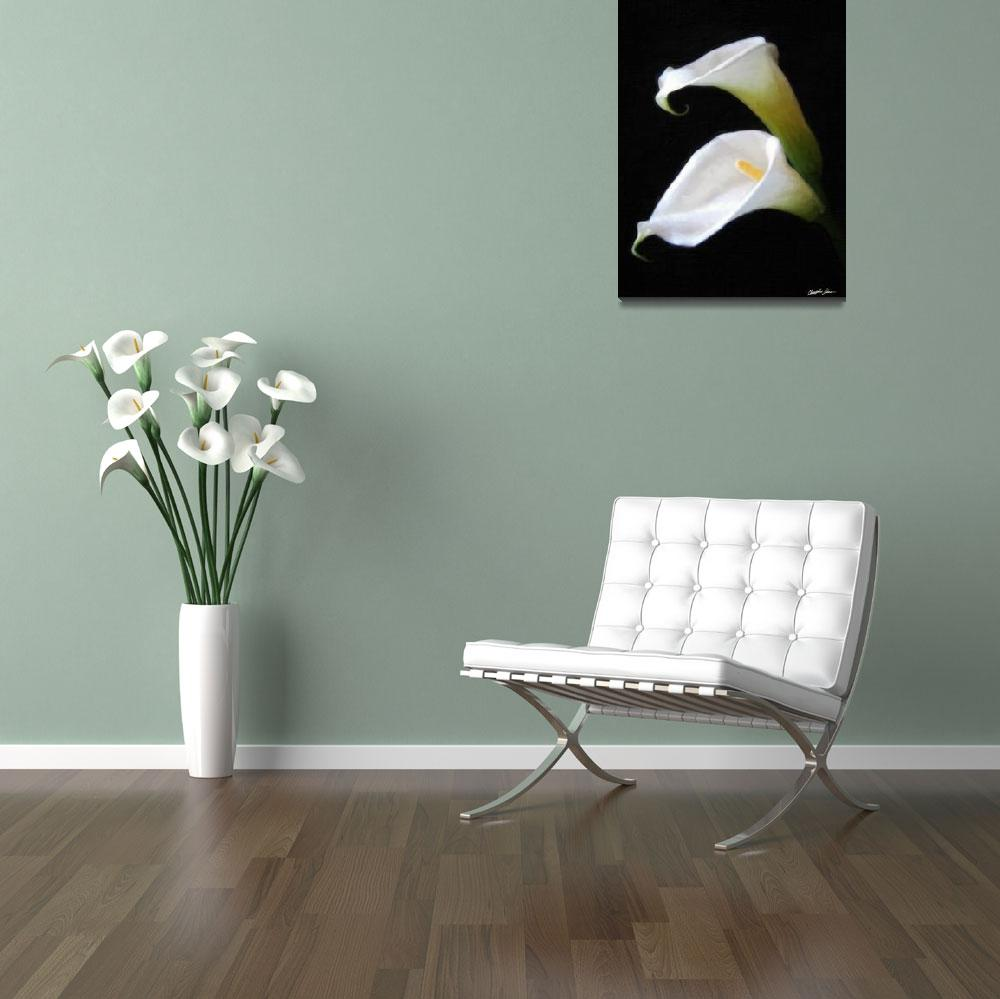 """""""Elegant Calla Lily Flowers 4 Painterly""""  by ChristopherInMexico"""