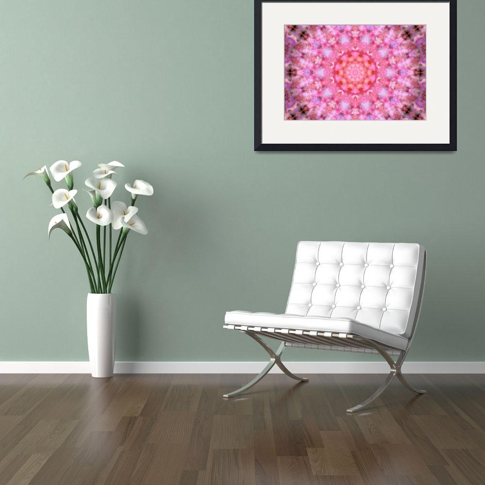 """""""Pink Floral Mandala - 1""""  (2010) by lightvision"""