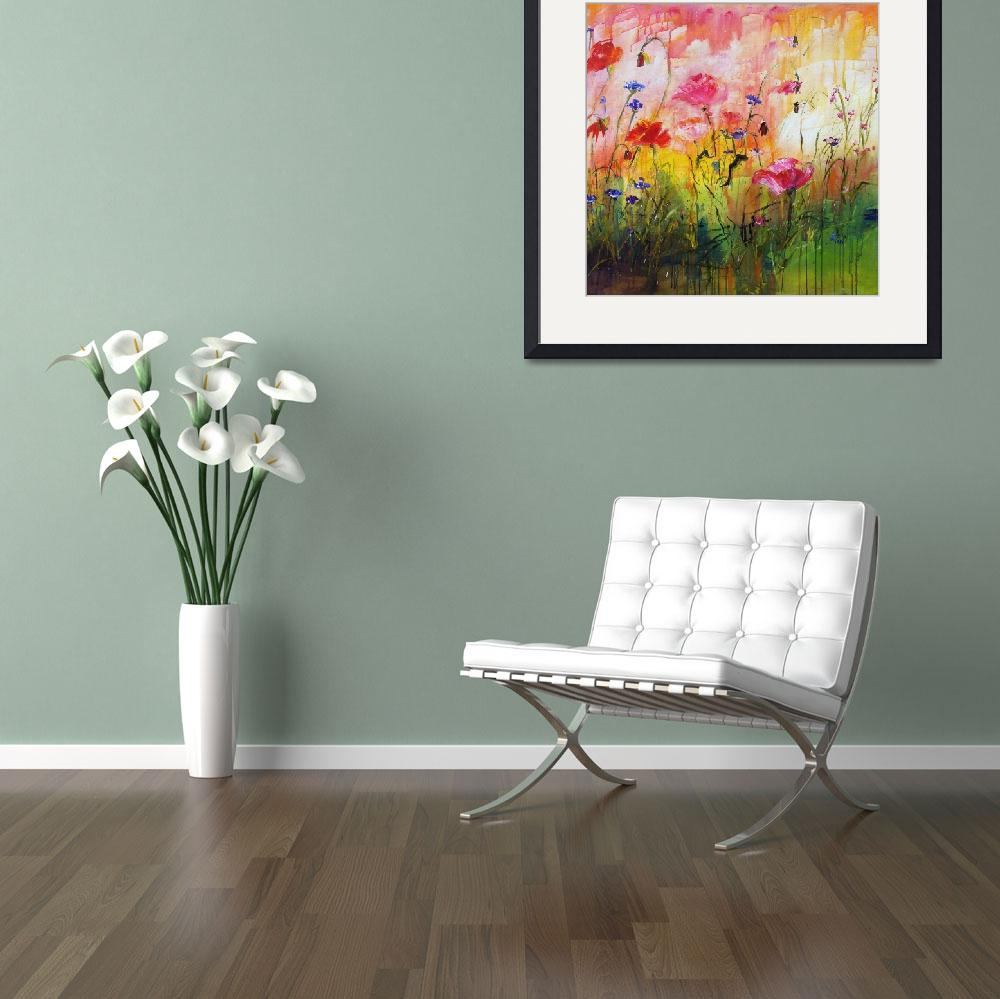 """""""Wildflowers Original Painting by Ginette Callaway&quot  (2010) by GinetteCallaway"""