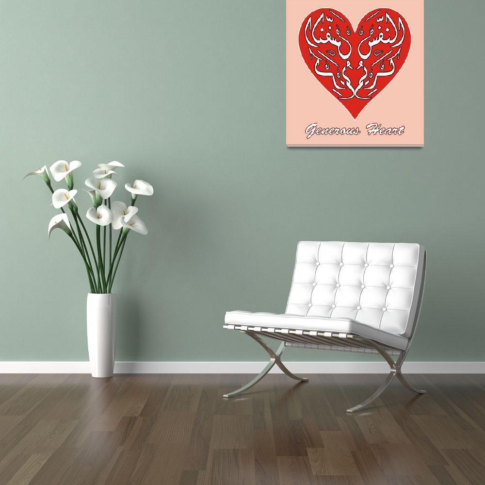 """Generius Heart""  (2010) by hamidsart"