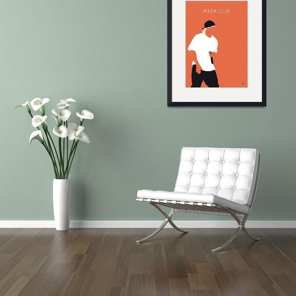 """""""No153 MY 50 Cent Minimal Music poster&quot  by Chungkong"""