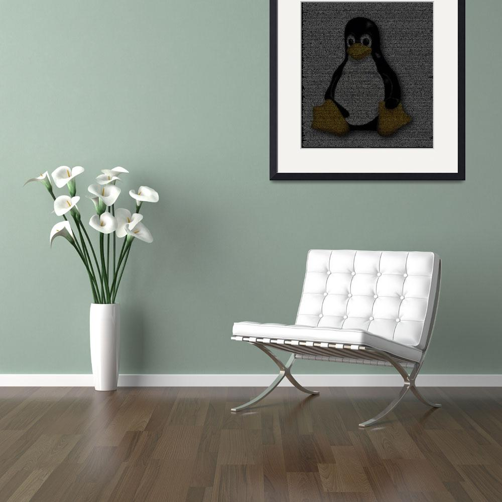 """""""Linux Poster from Source Code&quot  (2010) by 0xfe"""
