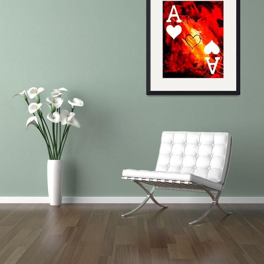 """""""ABSTRACT GALAXY ACES POKER ART OF HEARTS&quot  by teofaith"""