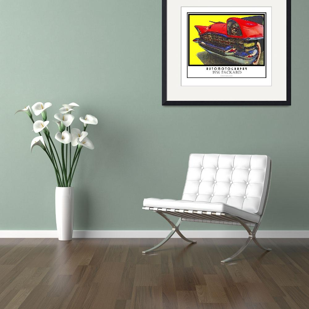 """""""1956 Packard Poster copy&quot  (2008) by Automotography"""