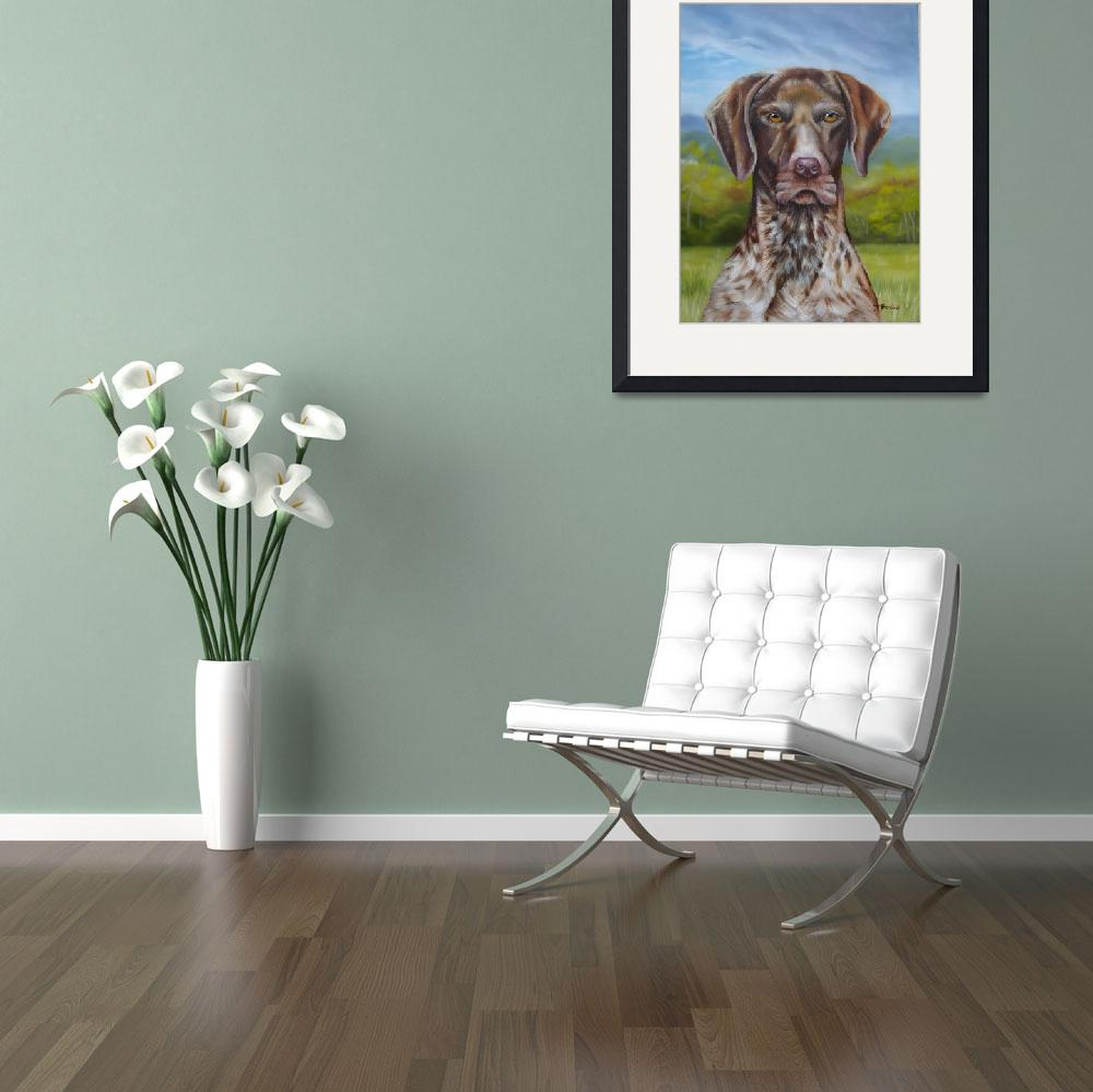 """""""German Short Haired Pointer""""  (2011) by donnabonavia"""