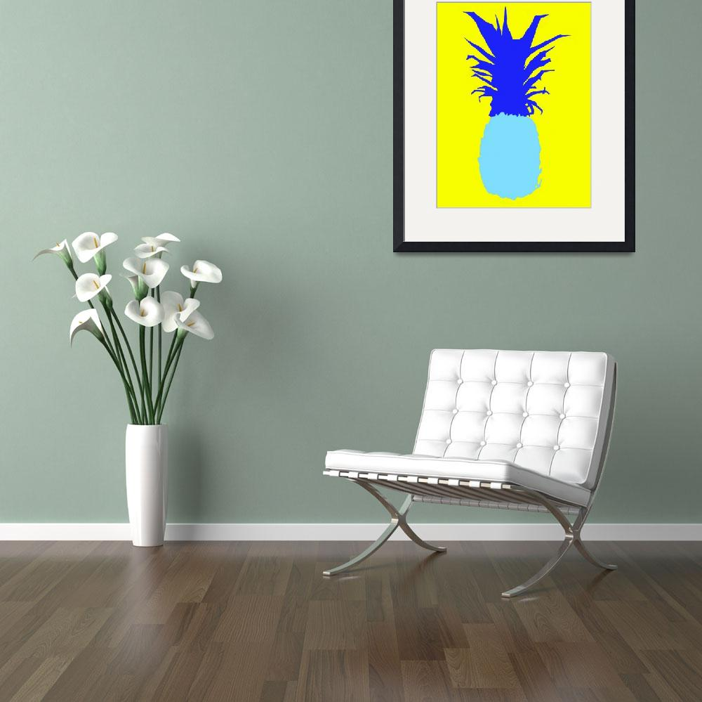 """""""Pineapple blue yellow (c)&quot  (2014) by edmarion"""