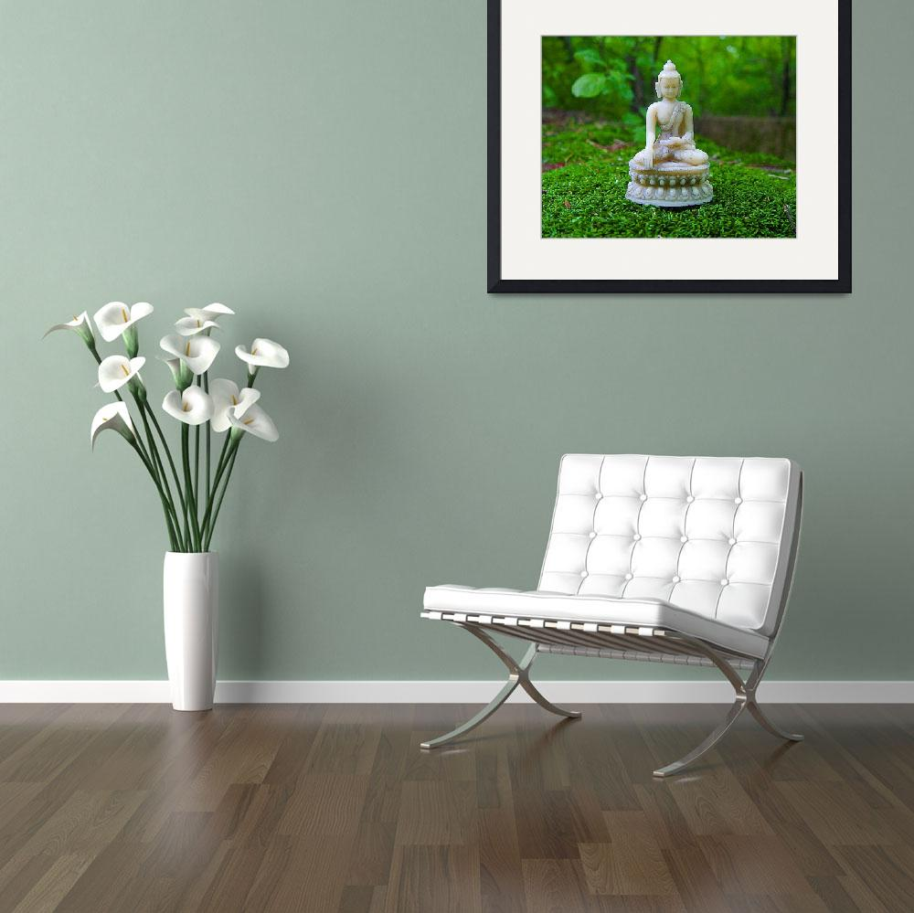 """""""buddha in green moss&quot  (2007) by artocular"""