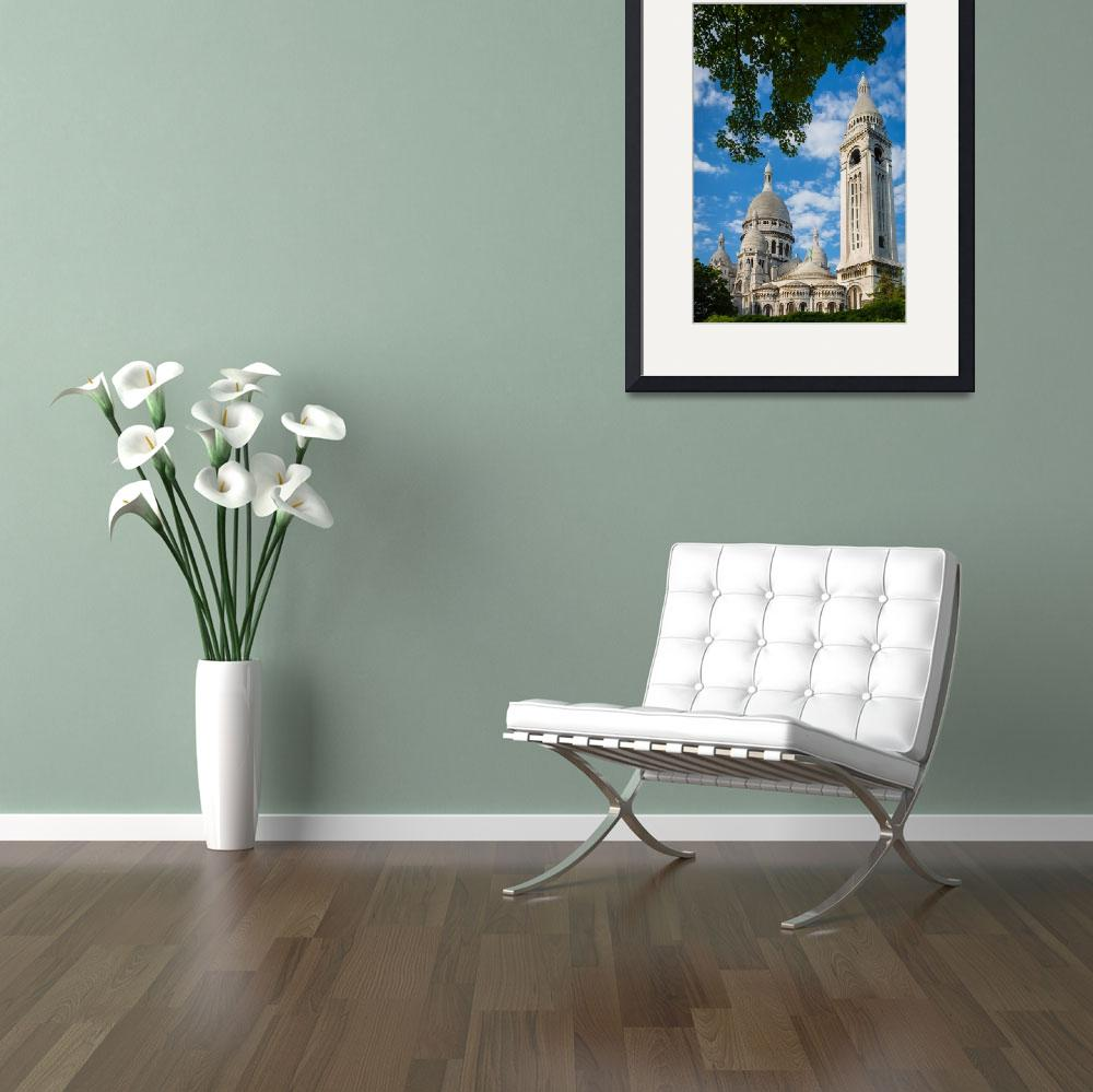 """""""Towering Sacre-Coeur&quot  (2012) by Inge-Johnsson"""
