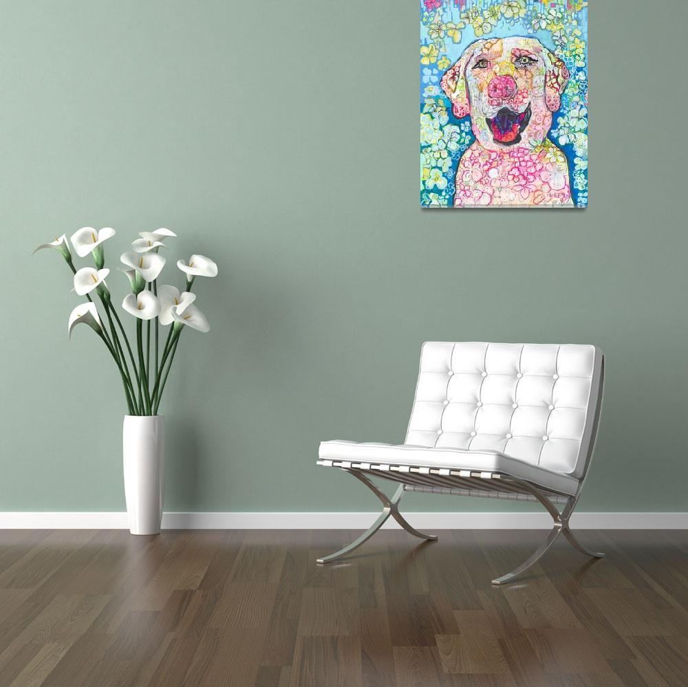 """""""White Labrador Retriever Dog""""  (2018) by RDRiccoboni"""