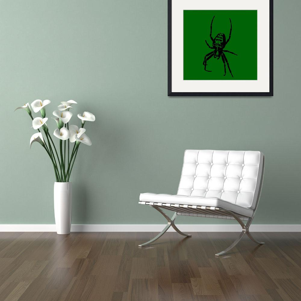 """Spider - Black & Green 2&quot  (2011) by ChainsawNecktie"