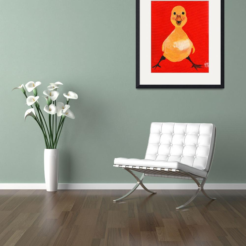 """""""Pluckie Duckie - Yellow Baby Chick&quot  (2009) by artchiz"""