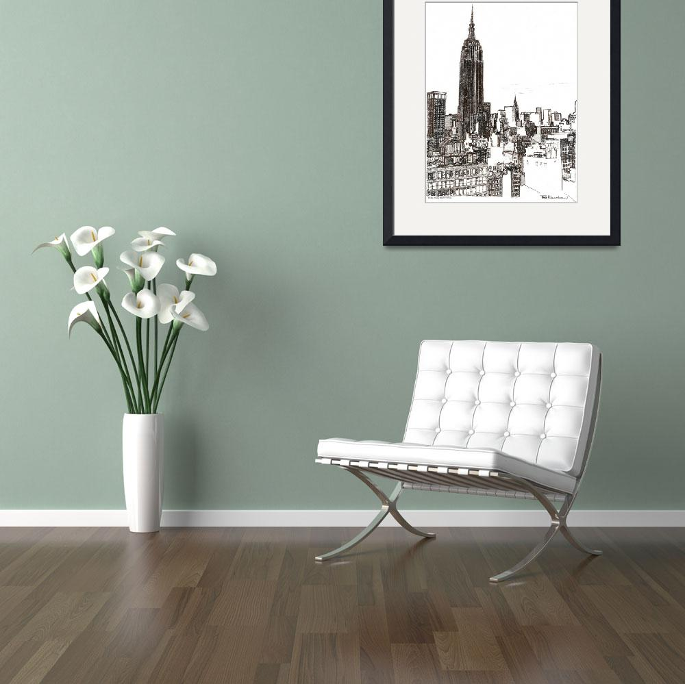 """""""New York City Empire State Building Midtown by Ric&quot  by RDRiccoboni"""