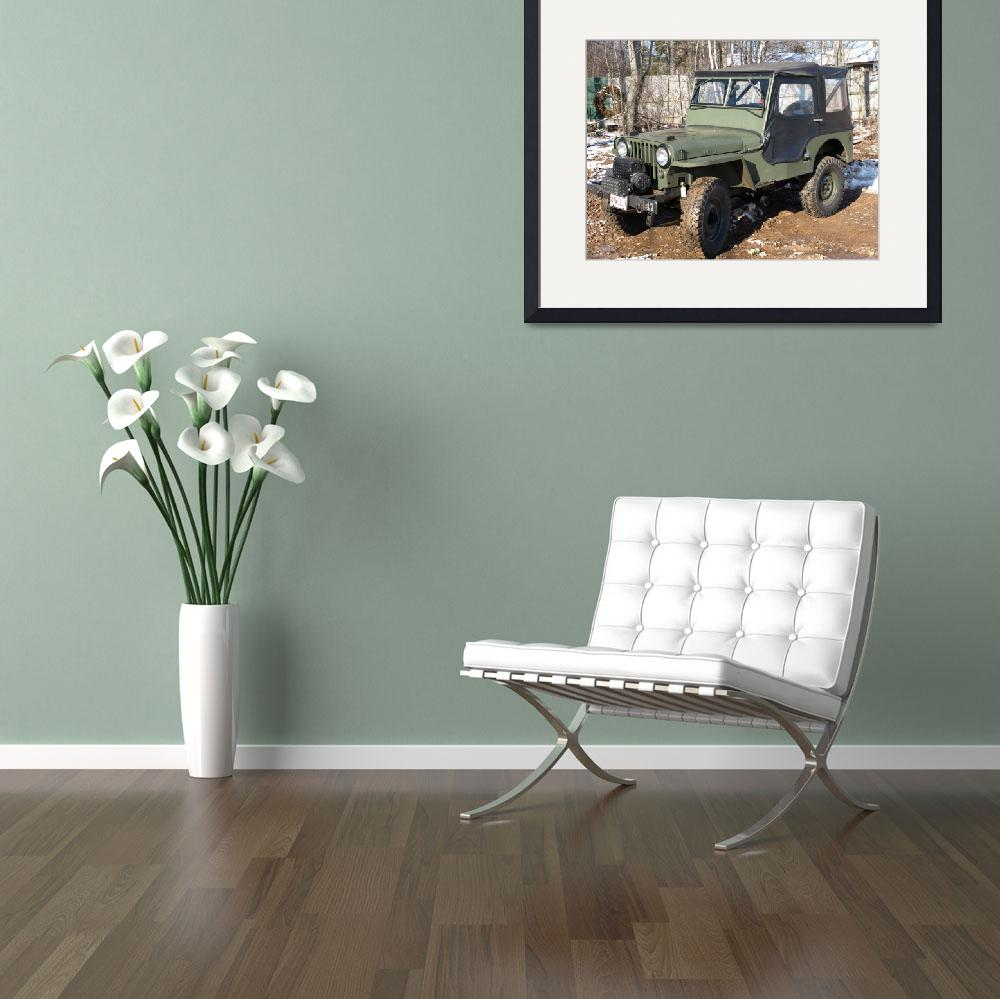 """""""1947 military jeep&quot  (2009) by Albertphoto"""