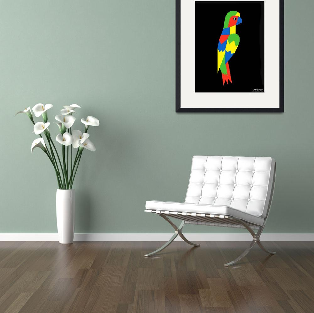 """""""Parrot - Art Gallery Selection&quot  by Lonvig"""