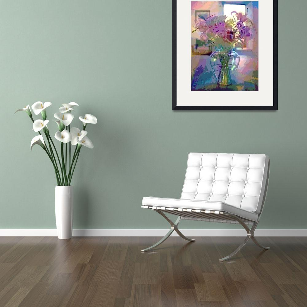 """""""Lilies in Glass&quot  (2012) by DavidLloydGlover"""
