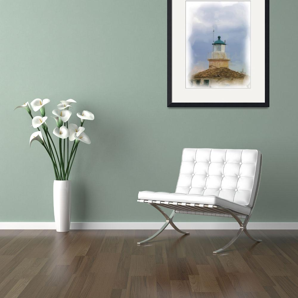 """""""Corfu old lighthouse&quot  (2010) by clickinart"""
