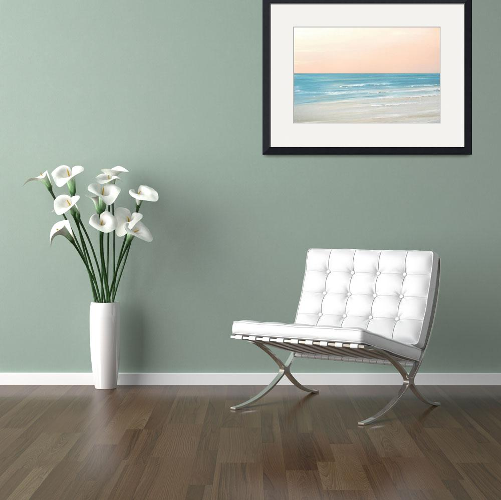 """""""Beach Sunset&quot  (2012) by FradetFineArt"""