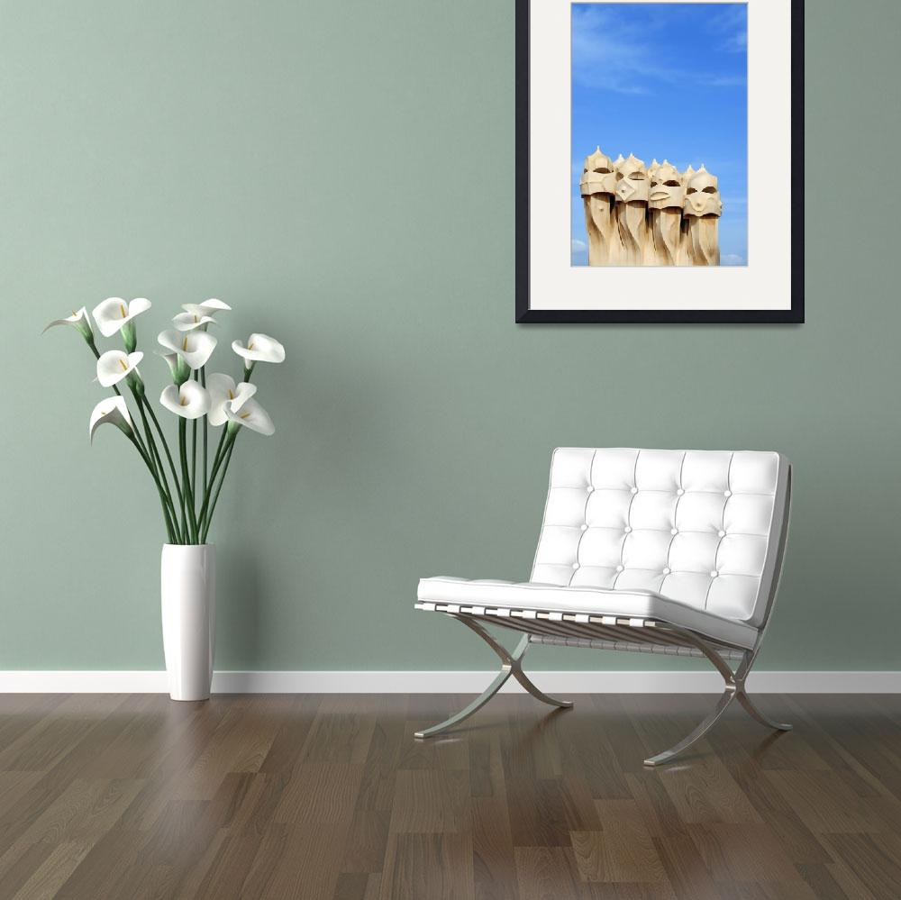 """""""Chimneys on Roof of Casa Mila, Barcelona&quot  by petrsvarc"""