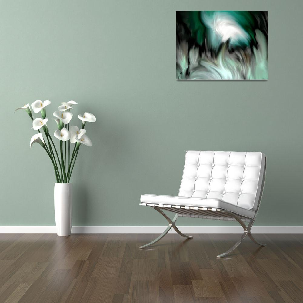 """""""abstract green by rafi talby&quot  (2012) by RT3D"""