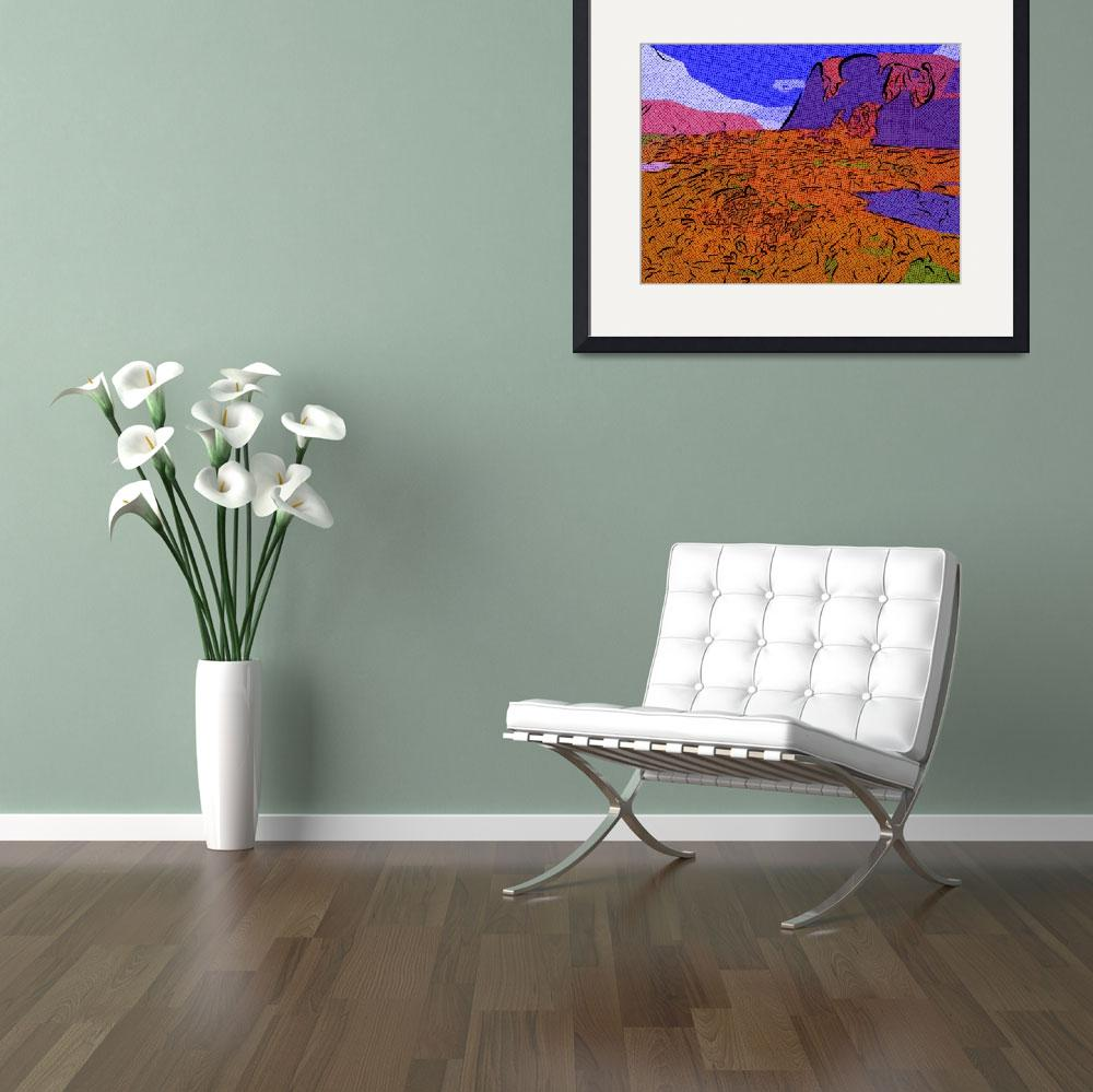 """""""The Badlands&quot  (2009) by mikesartworks"""