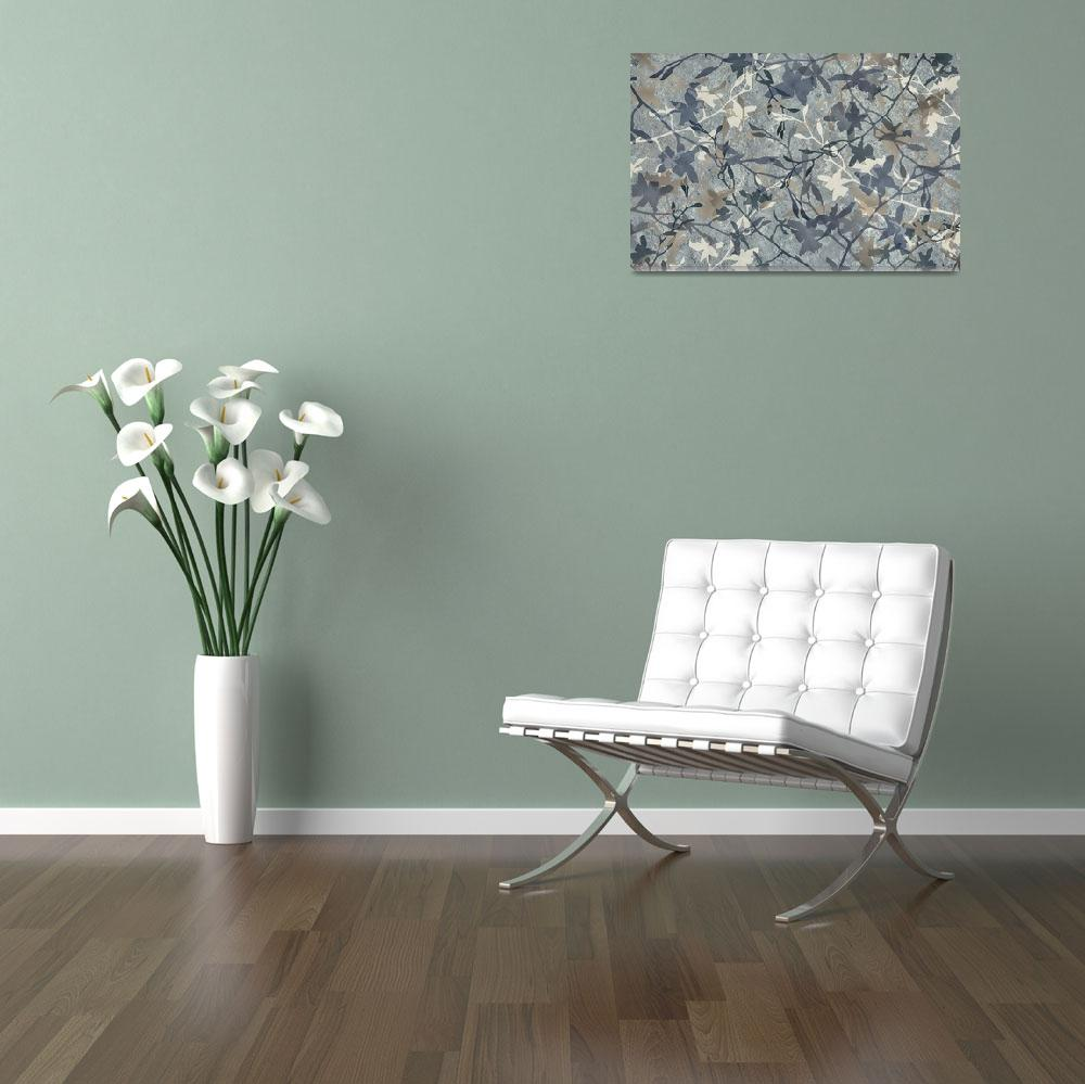 """""""Slate orchid silhouettes""""  (2012) by CoraNiele"""