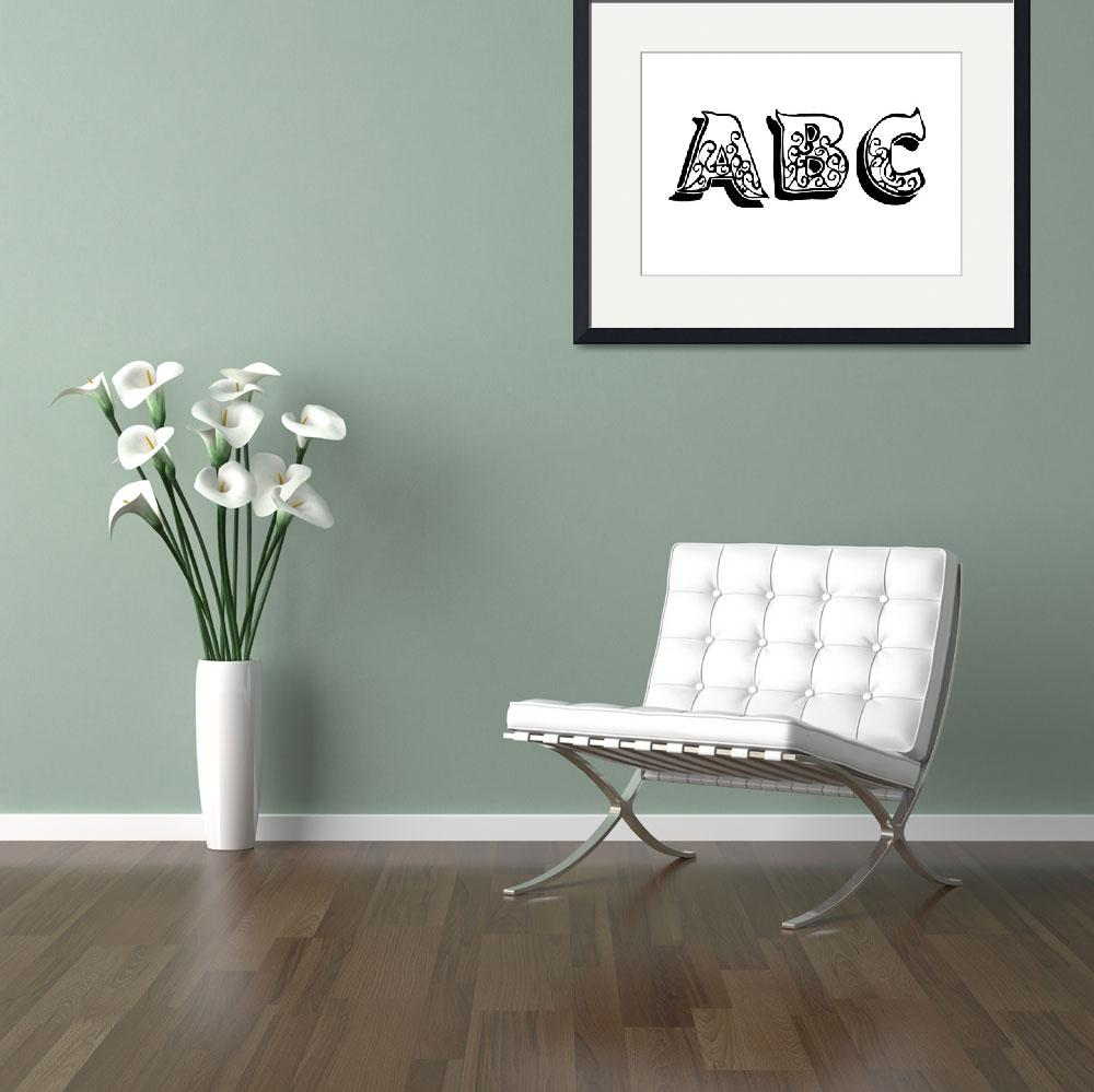 """""""ABC""""  (2011) by designsbyleigha"""